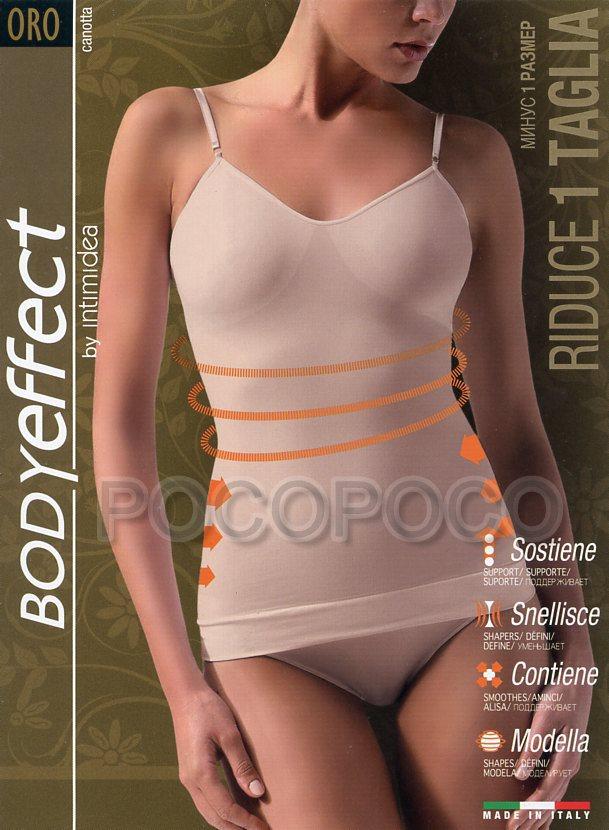 Slip Guaina Body Effect Oro Riduce Di Una Taglia By intimidea
